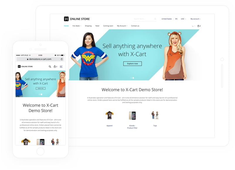 X-Cart Demo - Mobile-ready and SEO-friendly storefront
