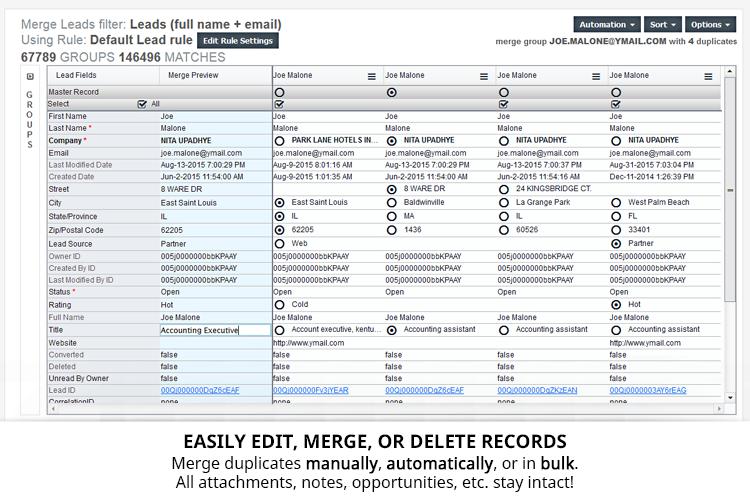 Cloudingo Demo - Cloudingo Merge - Merge and convert dupes however you'd like