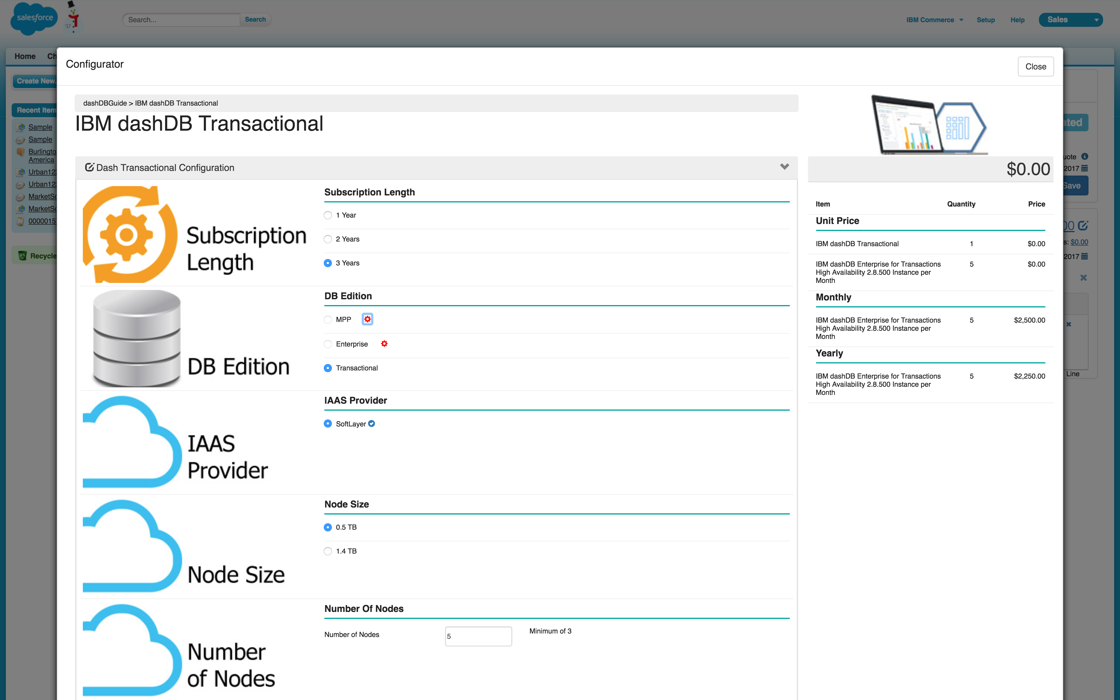 IBM CPQ Demo - IBM CPQ - Configurator - Transactional Dashboard