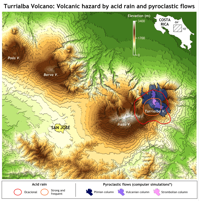 Surfer Demo - Surfer® Volcanic Hazard Contour Map