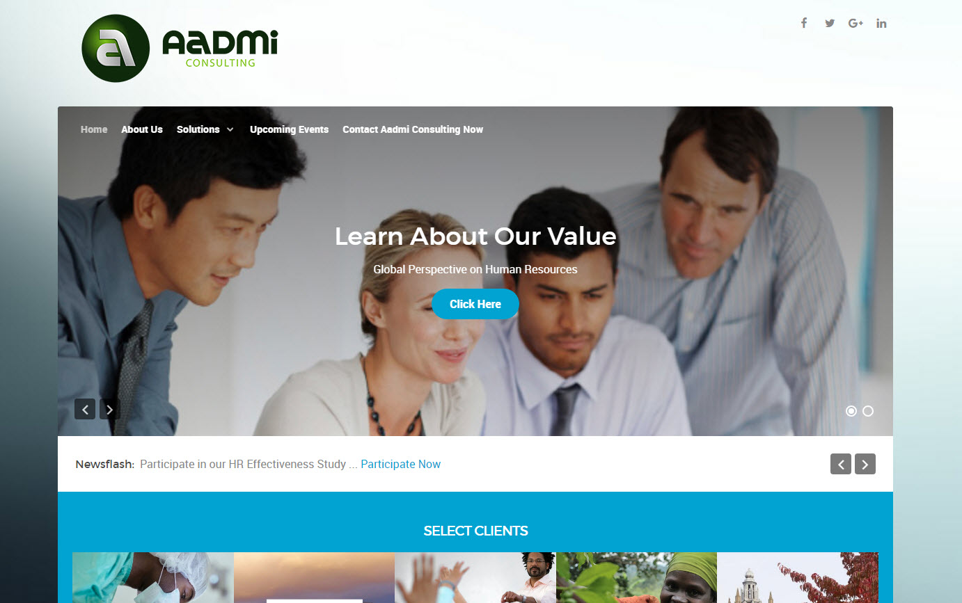 Aadmi Consulting Demo - Aadmi Consulting Website