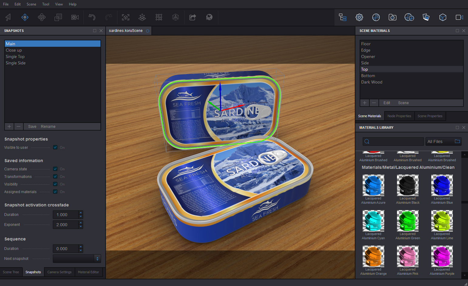 Koru Demo - Koru WebGL Export Software