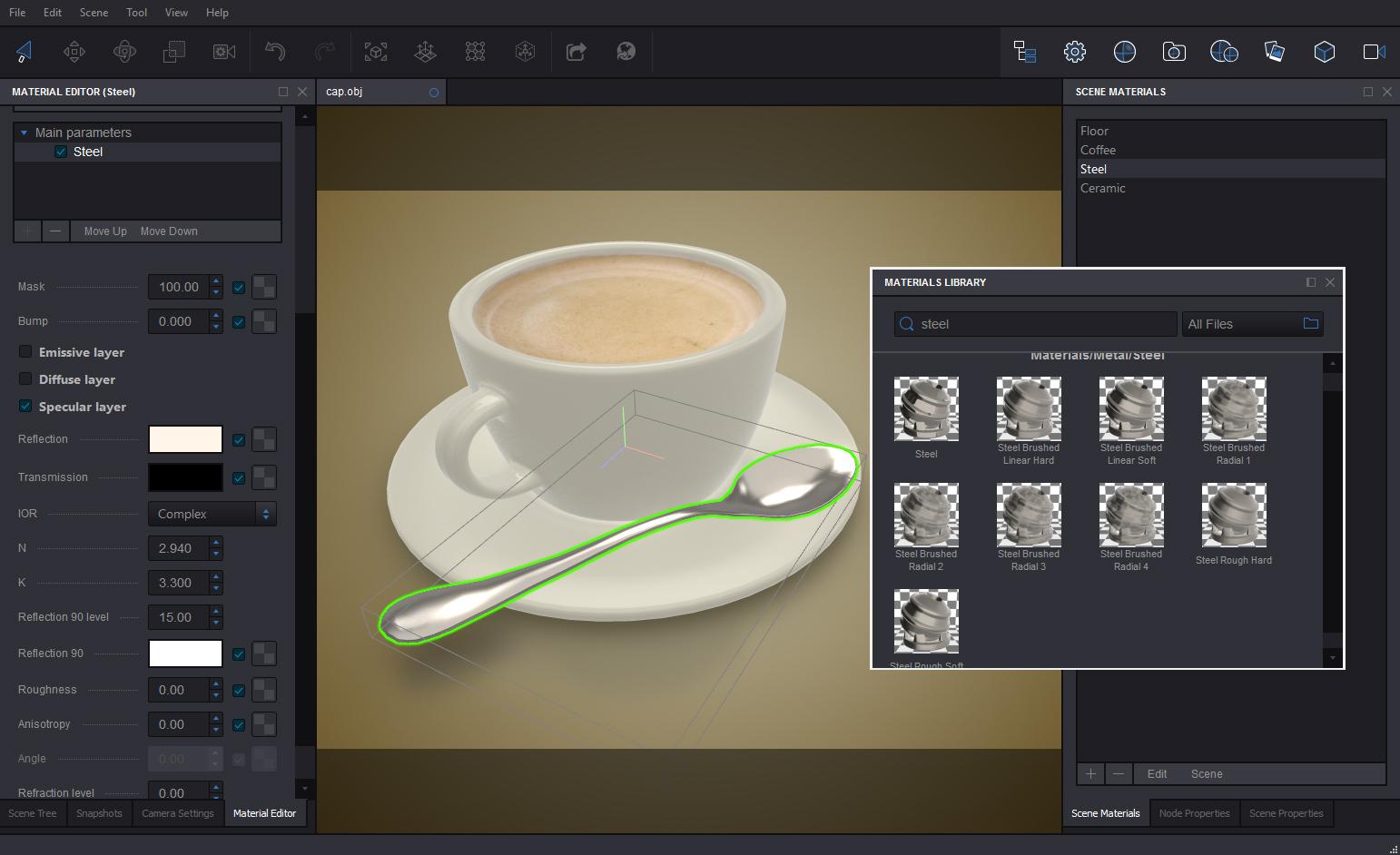 Koru Demo - Koru WebGL Export Software Screenshot