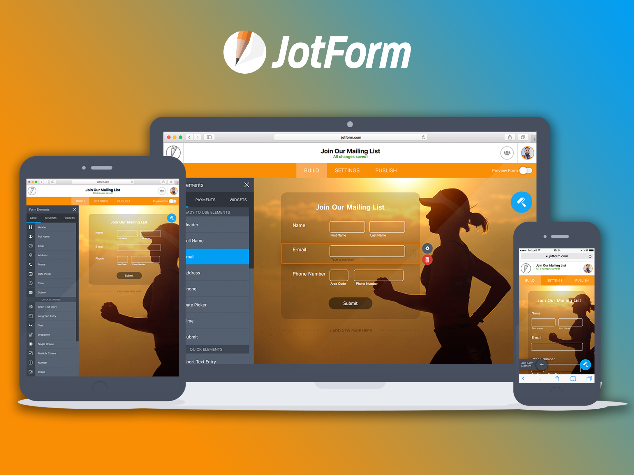 JotForm Demo - Any-device Form Building