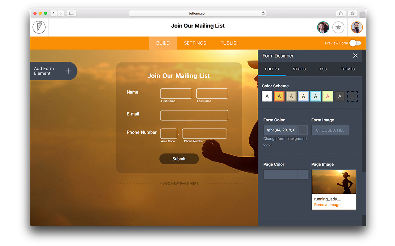JotForm Demo - Form Designer