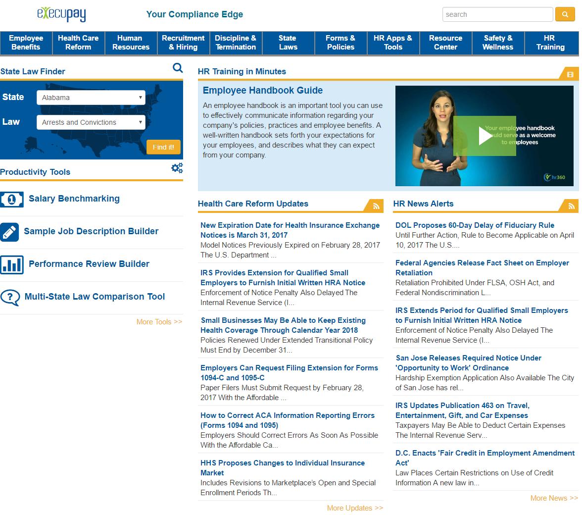 Execupay Demo - Execupay PlatinumPay Xpress HR360 Human Resources Library
