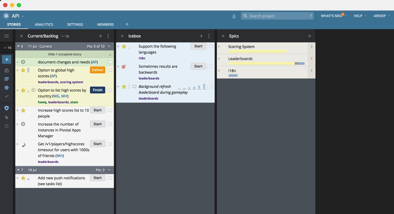 Pivotal Tracker Demo - Pivotal Tracker