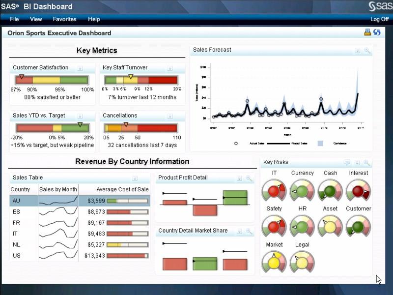 SAS Business Intelligence Demo -