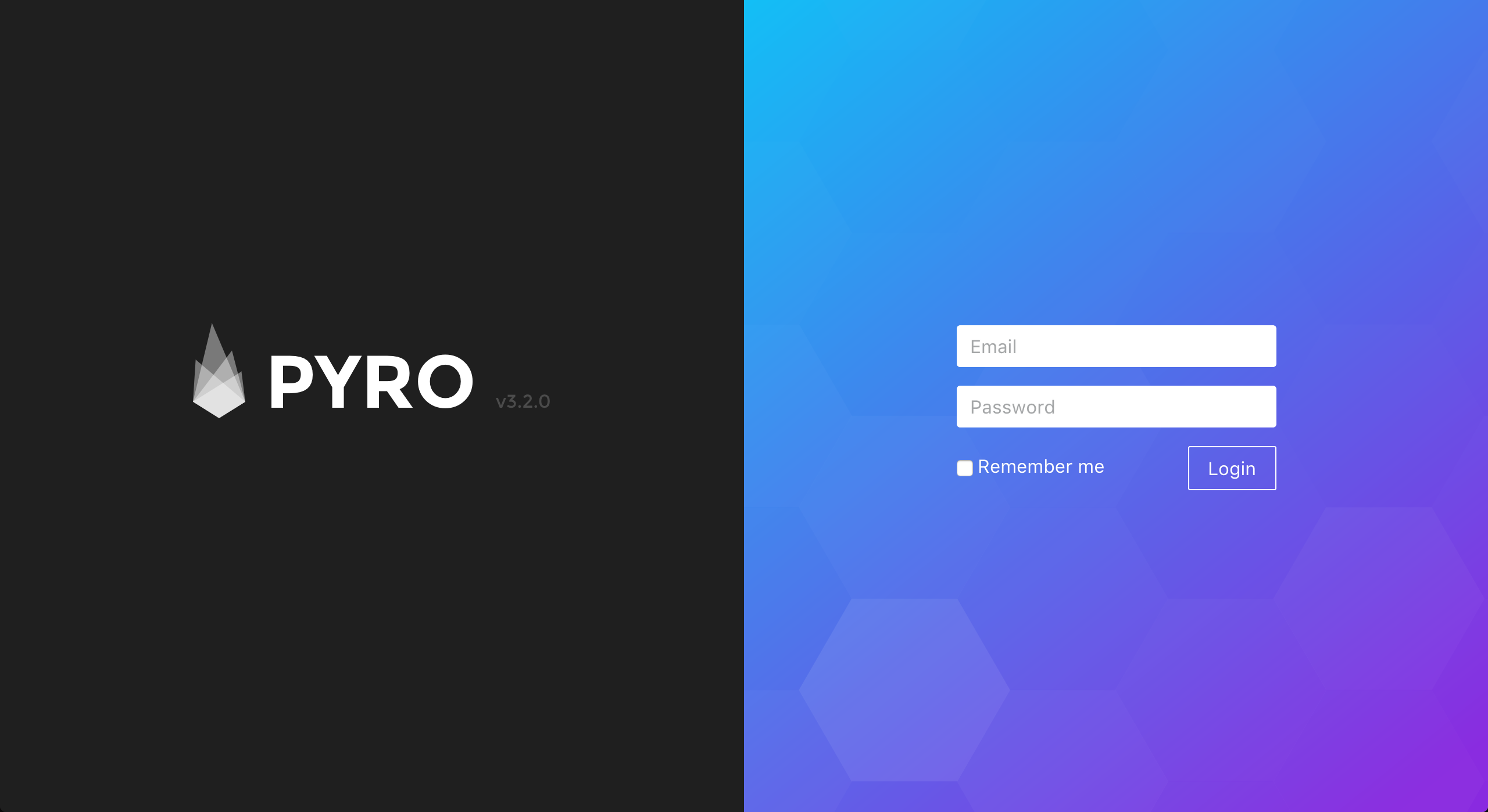 PyroCMS Demo - Login Screen