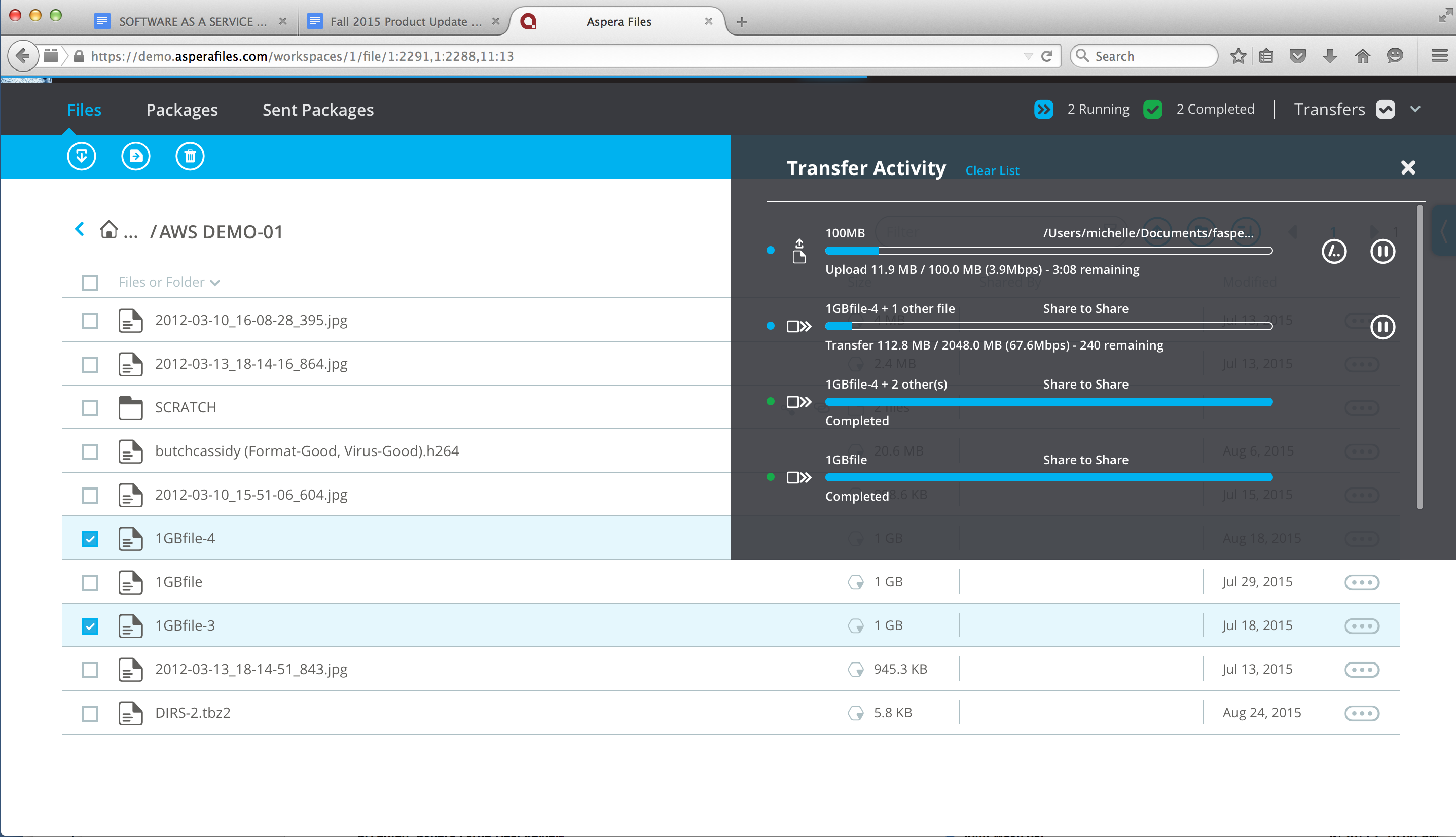 IBM Aspera Files™ Demo -