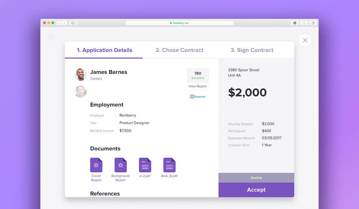 Rentberry Demo - Rentberry Application Details