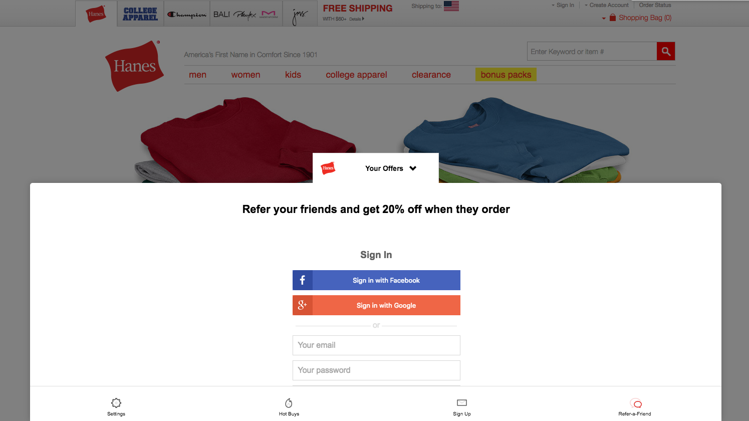 AddShoppers Demo - Refer-a-Friend