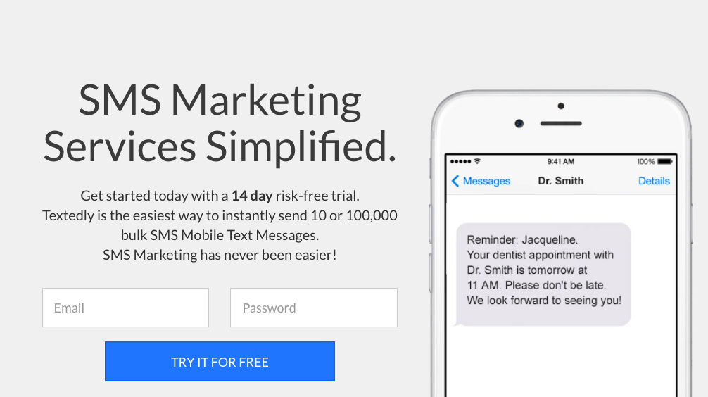 Textedly Demo - SMS Marketing Services Simplified