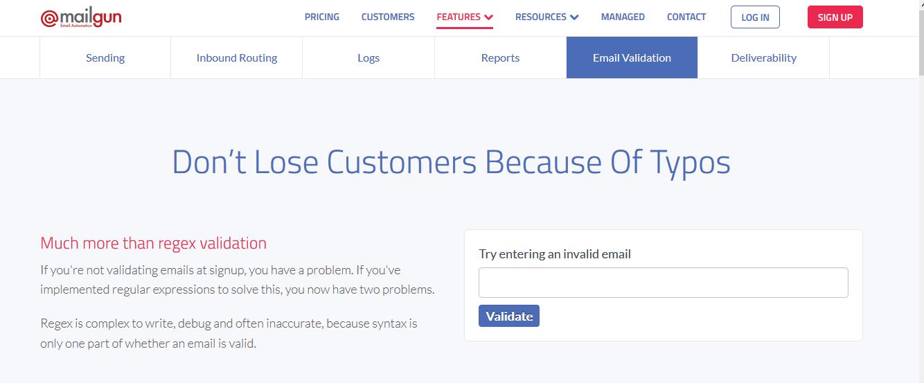 Mailgun Demo - Email Validation