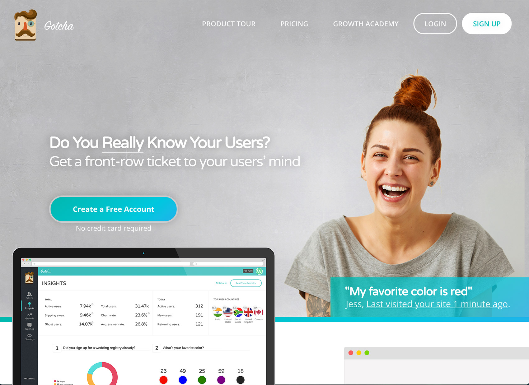 Gotcha.io Demo - Gotcha Micro-survey and marketing automation - website