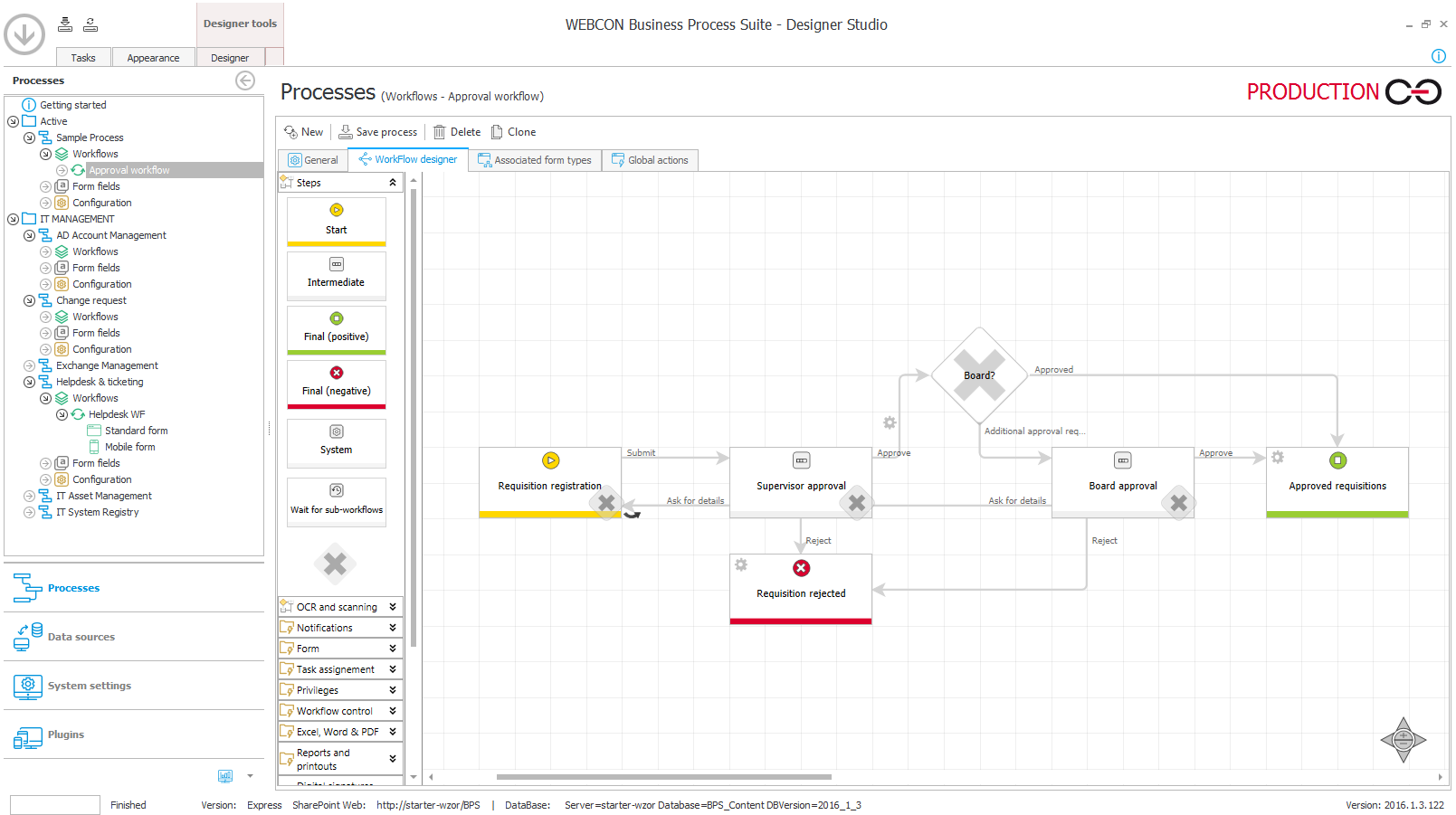 WEBCON BPS Demo - Graphical forms, workflows and business rules editor