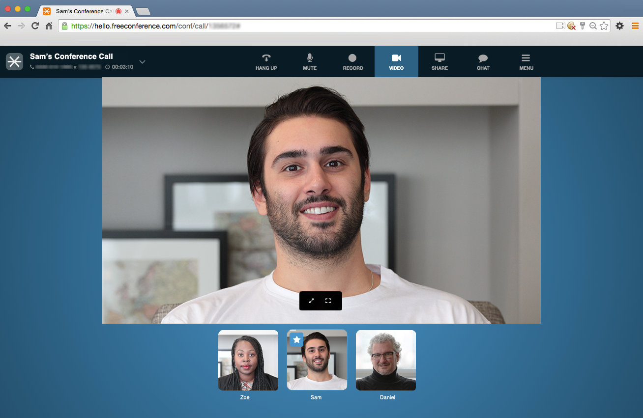 FreeConference.com Demo - Online Meeting Room