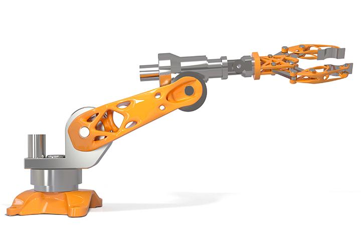 Altair Inspire Demo - Full Robot Optimized in solidThinking Inspire