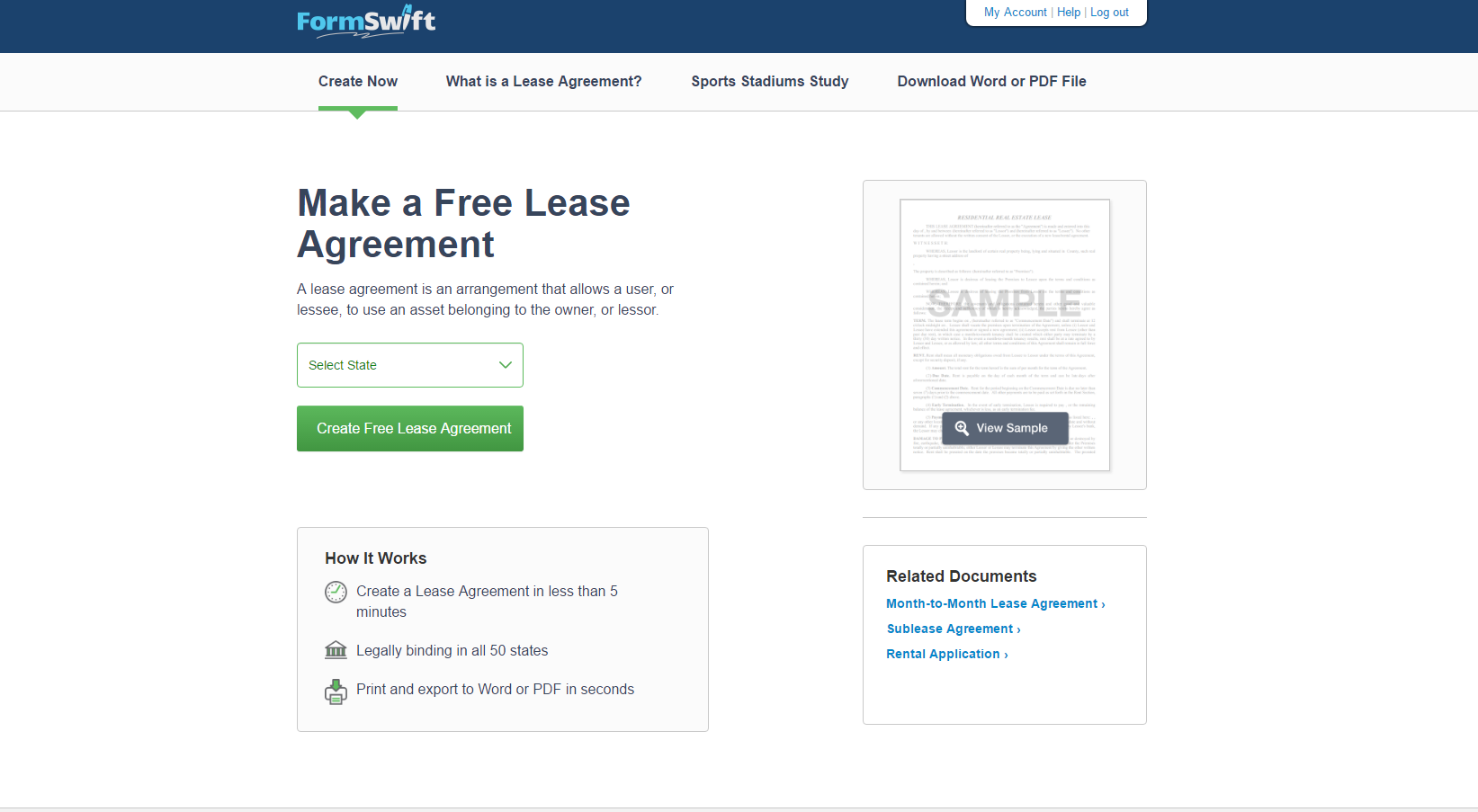 FormSwift Demo - Landing Page