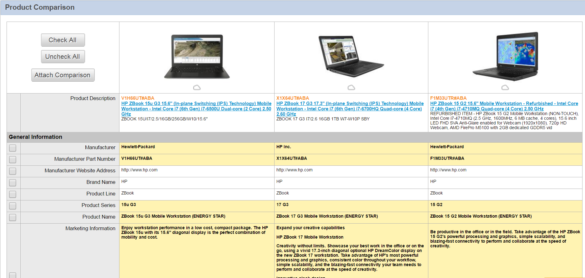 ConnectWise Sell Demo - Item+Compare.png