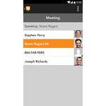 GlobalMeet Mobile Apps Screenshot
