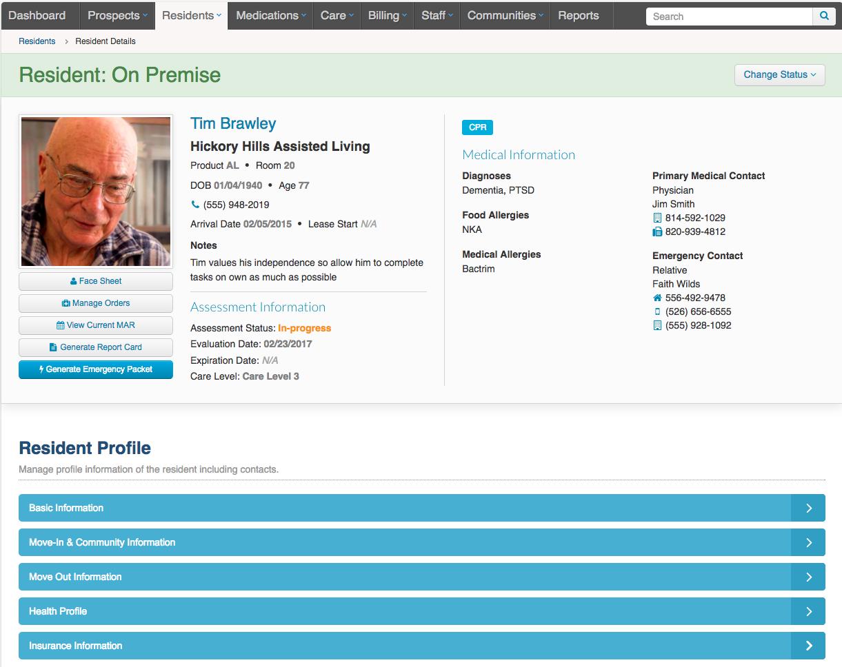 ALIS Demo - Digital Resident Profile