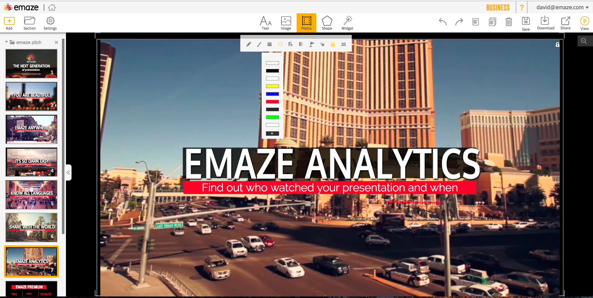 emaze Demo - Analytics