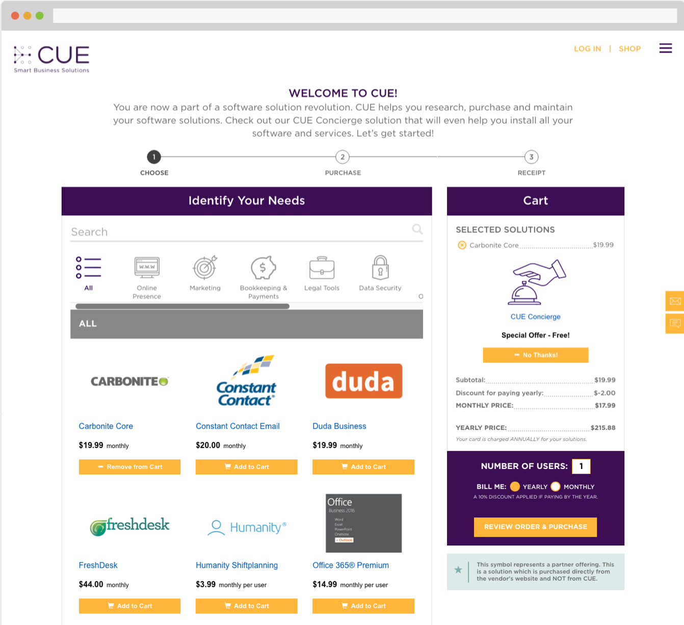 CUE Demo - CUE Shop