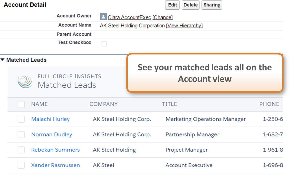 Full Circle Insights Demo - Matchmaker Lead-to-Account Matching
