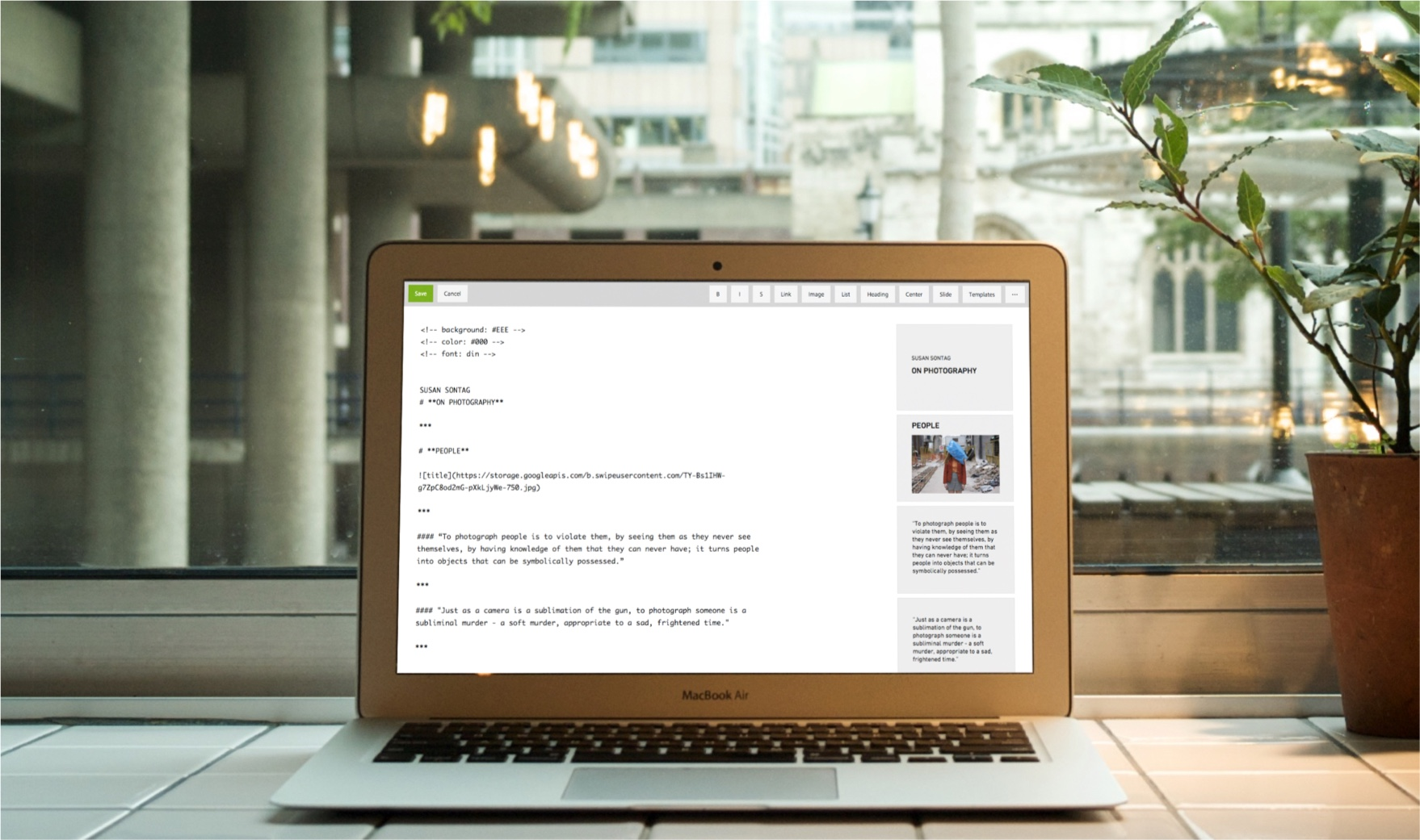Swipe Demo - Swipe - creating content