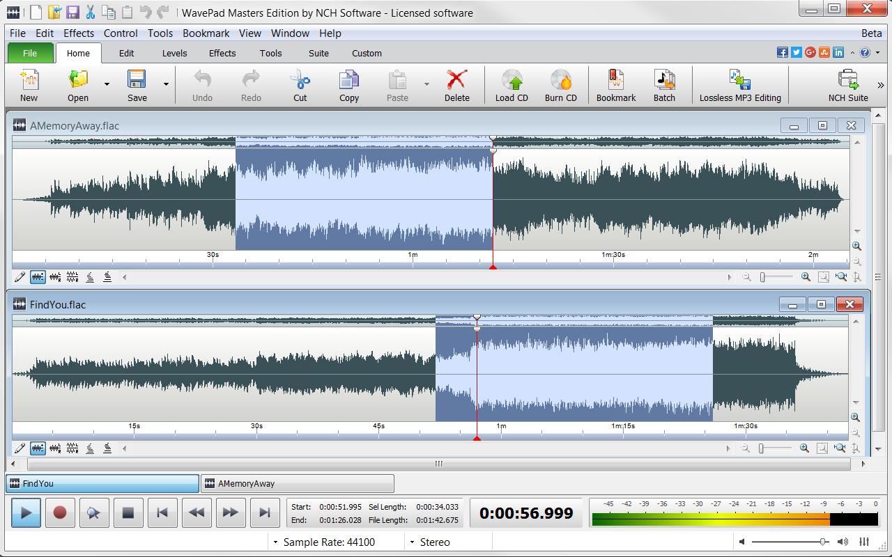 WavePad Demo - WavePad+-+Home+Screen.png