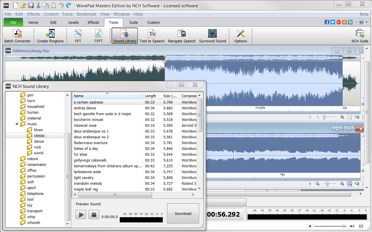 WavePad Demo - WavePad+-+Sound+Library.png