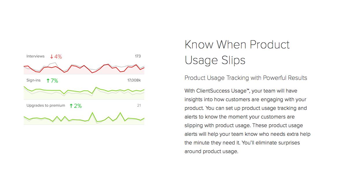 ClientSuccess Demo - ClientSuccess Product Usage Tracking