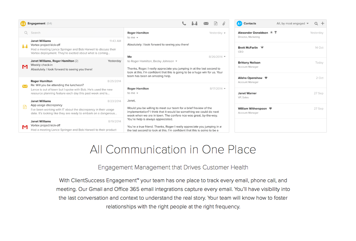 ClientSuccess Demo - ClientSuccess Customer Engagement Management