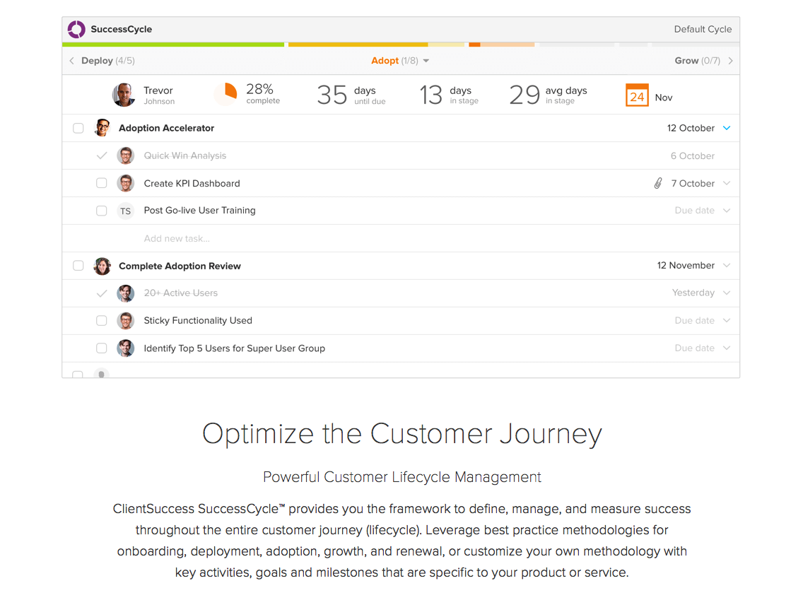 ClientSuccess Demo - Customer Success Journey Mapping
