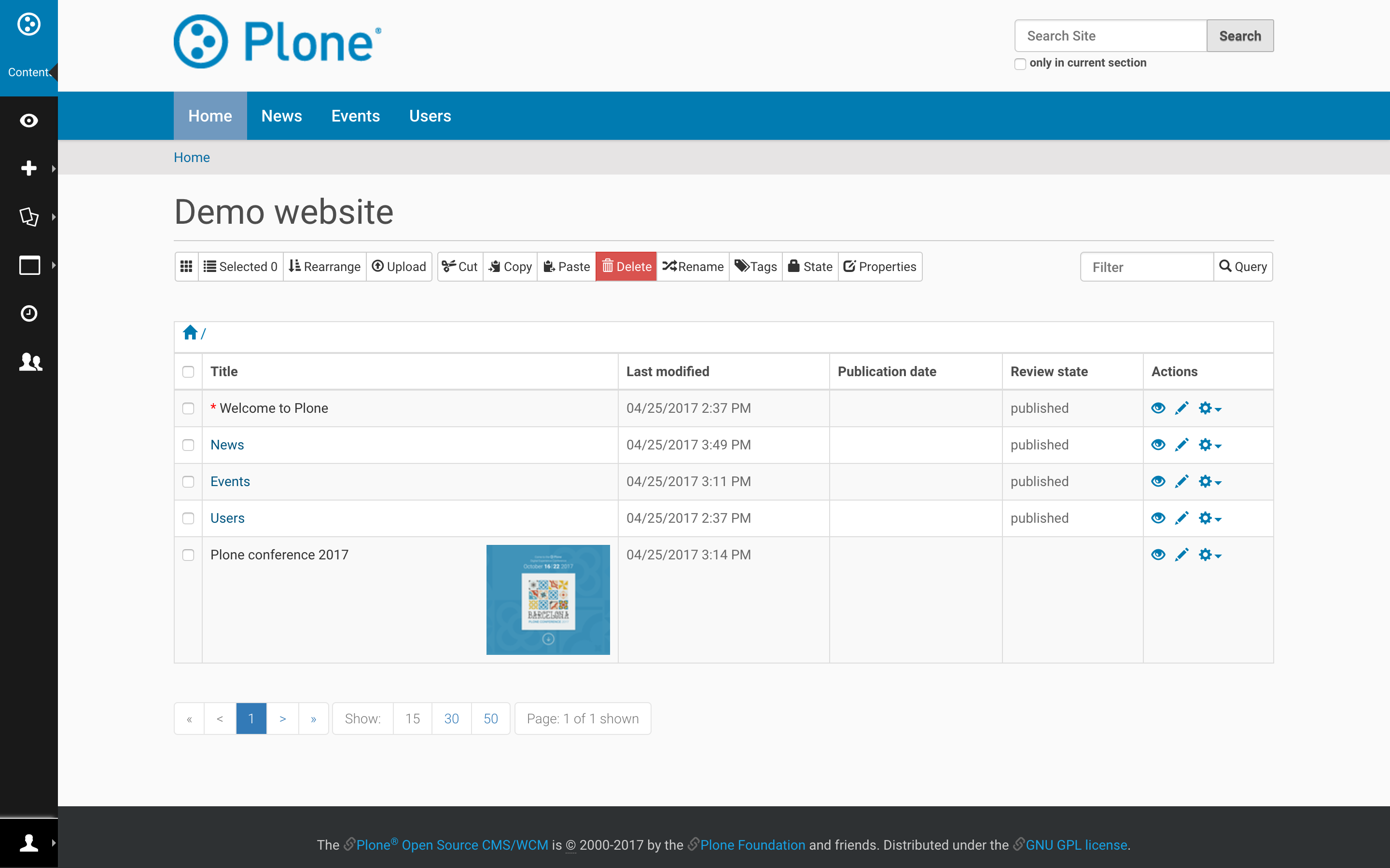 Plone CMS Demo - Plone 5.1 - Asset Manager