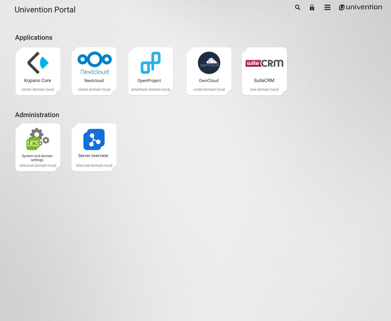 Univention Corporate Server Demo - Univention Portal