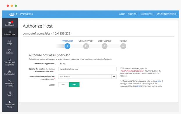 Platform9 Demo - Step 2: Authorize servers