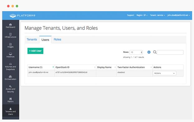 Platform9 Demo - Step 4: Add users, go live!