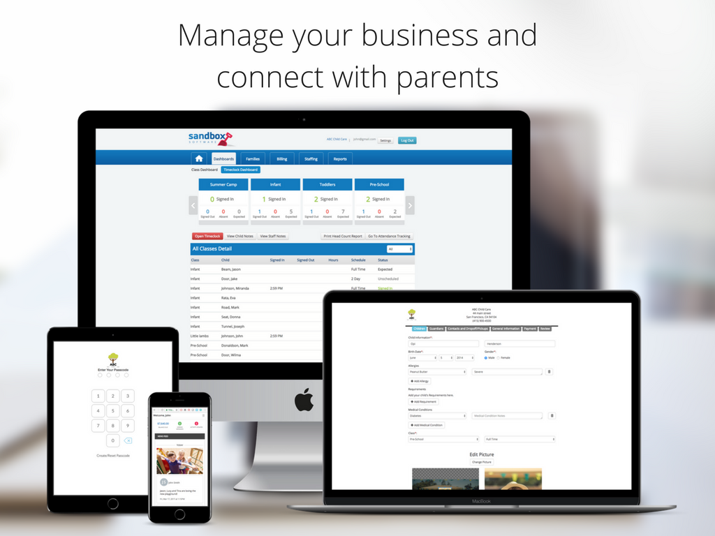 Sandbox Software Demo - All-in-one Child care Management Software