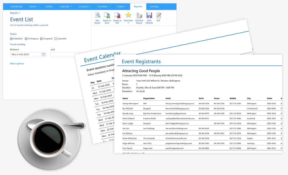 Arlo Training & Event Software Demo - Advanced Reporting