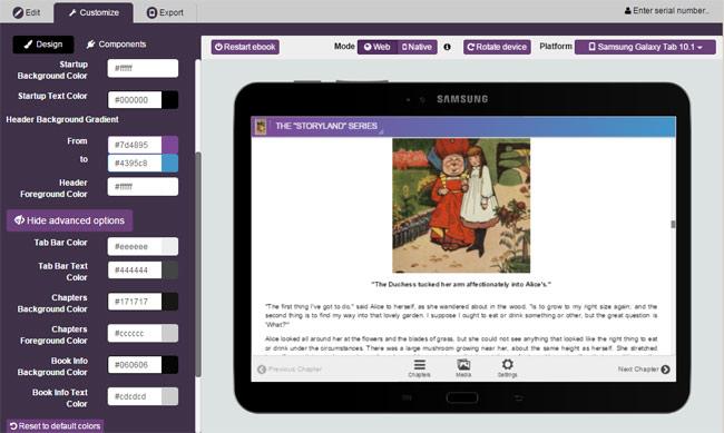 Kotobee Author Demo - Customize your Ebook