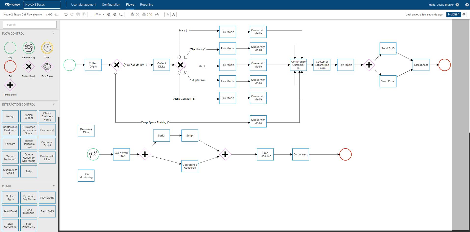 CxEngage Demo - CxEngage Flow Designer