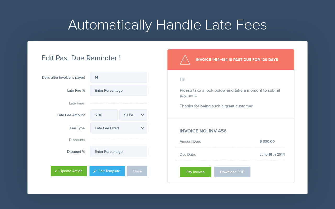 InvoiceSherpa Demo - Automatically Handle Late Fees