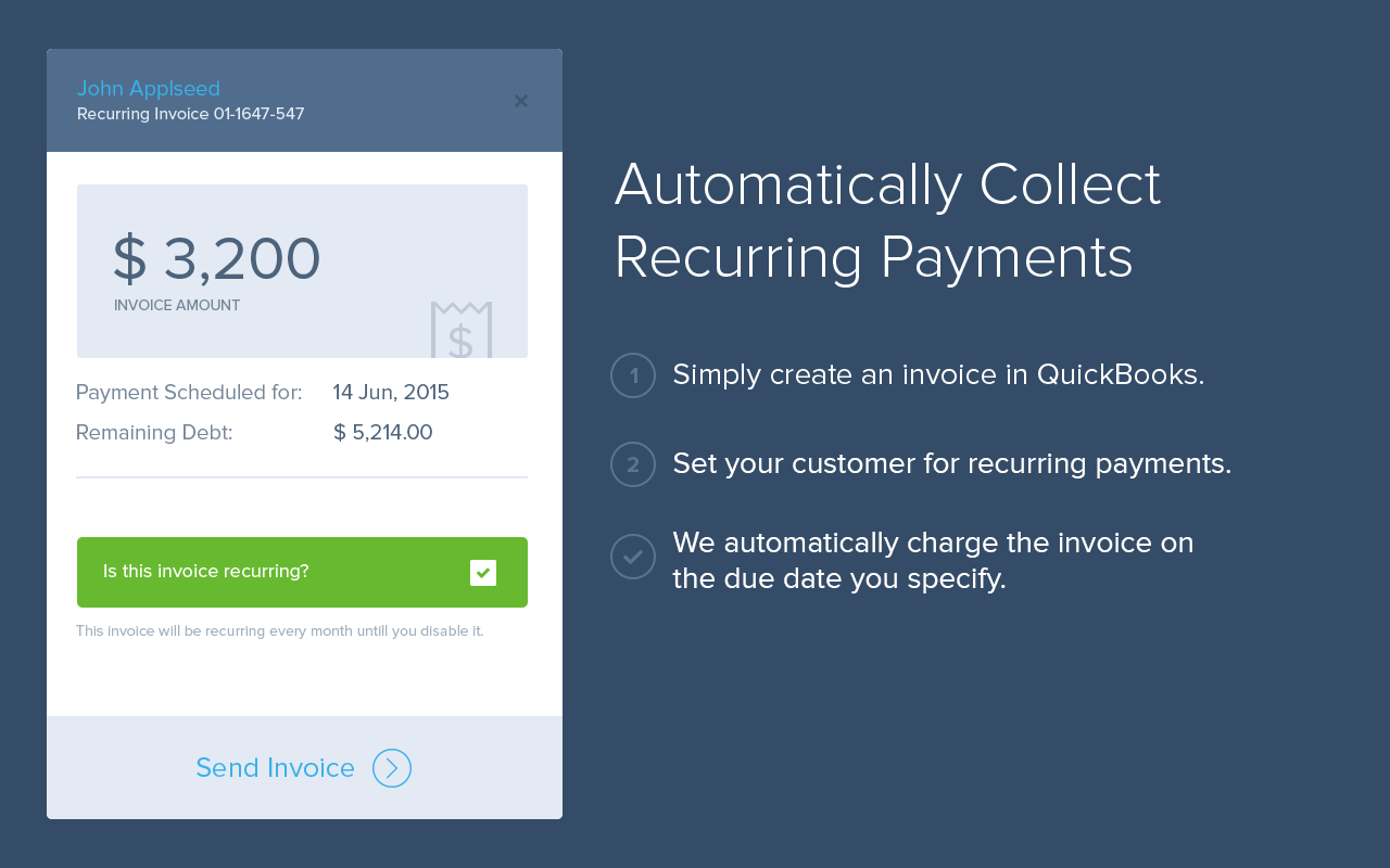 InvoiceSherpa Demo - Automatically Collect Recurring Payments