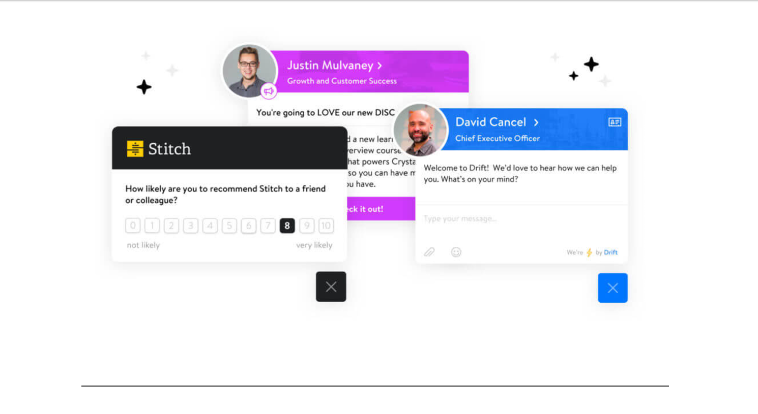 Drift Demo - Reach your customers in the right place at exactly the right time.
