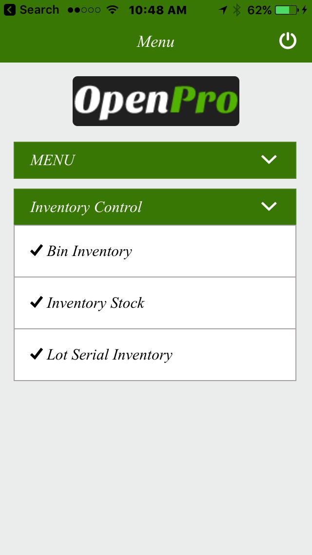 OpenPro ERP Demo - OpenPro Easy ERP has built in mobile solutions.