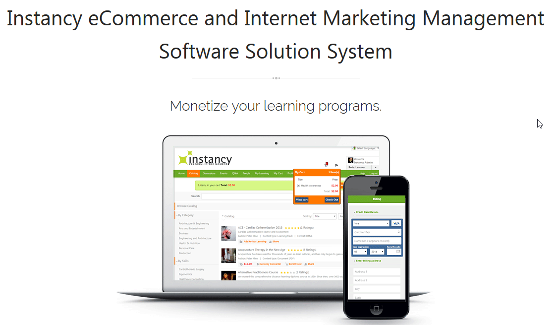 eLearning eCommerce System Demo - eLearning eCommerce Software Solution System
