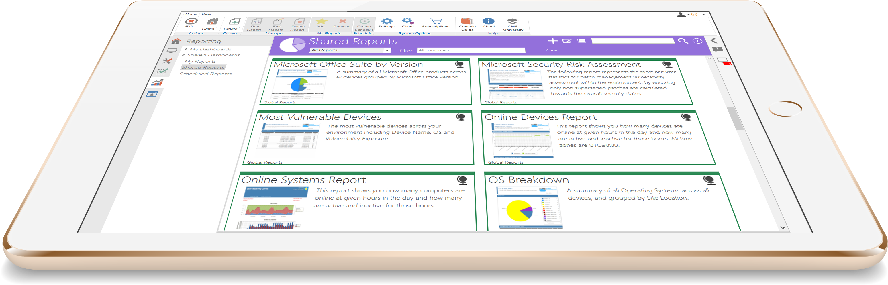 Cloud Management Suite Demo - Easily Manage and Share Reports