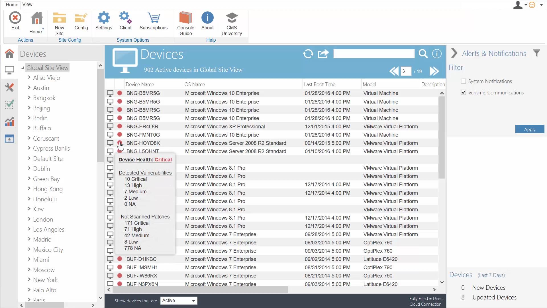 Cloud Management Suite Demo - Device Health